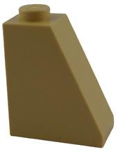 Lego 10 Pièce Tuiles en Béton en Beige (Tan) 65 2x1x2 Bloc Incliné Tuiles 60481