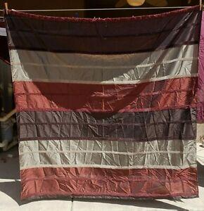 Shower Curtain Fabric with Velvet Trim Decorative