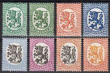 Finland Lions 1927-1929 WM Posthorn Water Mark Model M17 Mint MNH Stamp Set