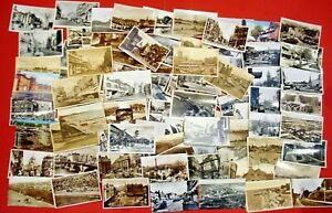 VINTAGE UK PHOTOPGRAPHS & POSTCARDS FROM 1952 - 120 TO CHOOSE FROM LOT P