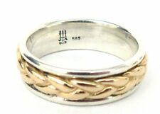 James Avery 14kt Gold/.925 Braided Band Ring in JA Box / Pouch Great Condition!