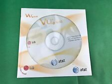 NEW SEALED VU TV BY LG TELEVISION OWNERS MANUAL DISC AT&T CU920 ENGLISH+SPANISH
