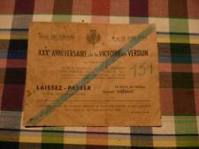 a voir laisser passer 30 eme anniversaire de la victoire de verdun en 1946