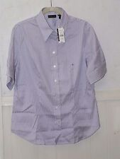 New York & Co button down white striped shirt blouse  3/4 sleeve new w/tags XL
