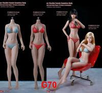 "TBLeague 1/6 Girl Flexible Body Model Seamless Mid Chest for 12"" Action Figure"