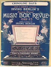 """CRINOLINE DAYS"" from 2nd ANNUAL MUSIC BOX REVUE (1922 - 23 BROADWAY MUSICAL)"