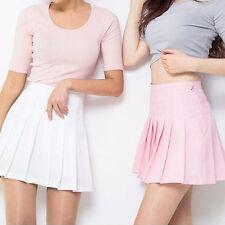 tennis taille haute Uni Patineuse évasée plissé jupe courte SHORT FEMMES filles