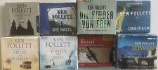 Ken Follett CD Hörbuch Sammlung -  Hörbücher - 8 Stück