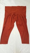 100% Cotton Plain Solid Rustic Orange Pakistani Indian Salwar Shalwar USA Seller