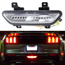 Euro 3-IN-1 LED Rear Fog Back-up Brake Reverse Lights Ford Mustang 2015-up Lamps