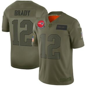 Herren NFL Tom Brady #12 New England Patriots American Fußball Trikot Jersey
