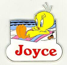 Tweety Bird Name Magnet ~ Joyce ~ Looney Tunes Collectible~ Stocking Stuffer