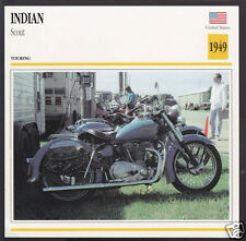 1949 Indian Scout 440cc V-Twin American Bike Motorcycle Photo Spec Info Card
