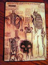 Magic the Gathering Basic Land MTG altered art Davinci Skeletal Swamp