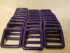 "Lot of 30 Square 3"" Three Inch Purple Plastic Marbella Macrame Craft Rings"