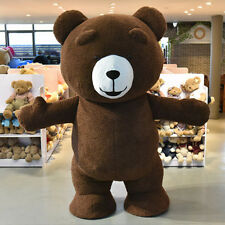 Inflatable Plush Bear Mascot Costume Adult Size
