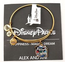 Disney Alex and Ani Epcot Pin Event Love is an Adventure Bracelet Gold