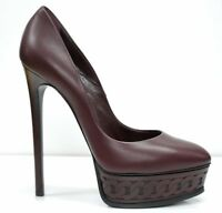 New in Box Casadei Ladies Bordo Detail Leather Pump 1FH01