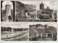 Ansichtskarte Bad Kösen - Burg Saaleck/Rudelsburg/Schwimmbad der Jugend - s/w