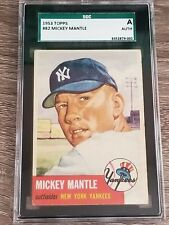 * 1953 Topps Mickey Mantle #82 - SGC A Authentic (Looks VG+) * Centered *