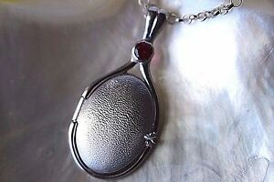 925 Sterling Silver 4 mm Lab Ruby Locket H2O Just Add Water Mermaids Pendant -