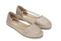 size 10 Reaction Kenneth Cole How Laser Rose Gold Espadrille Flat Womesn Shoes