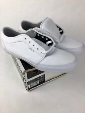 VANS Chukka Low (10 oz. Canvas) White/White UltraCush Skate Shoes Mens Size 14