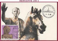 ITALIA MAXIMUM MAXI CARD 1988 I BRONZI DI PERGOLA 650 NERONE ANNULLO TORINO B7