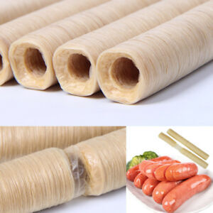 26mm*14m Collagen Meat Casing Skin for Sausages Hot Dog BBQ Grilled Sausage Tool