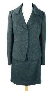 NWT $339 Ann Taylor Women's Suit Black Wool Blend Size 16 Jacket, Size 14 Skirt