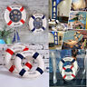 Welcome Aboard Nautical Life Ring Lifebuoy Boat Wall Hanging Home Bar Decor Cxzy