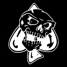 Angry Spade Skull Large Car Truck Window Wall Laptop Vinyl Decal Sticker.