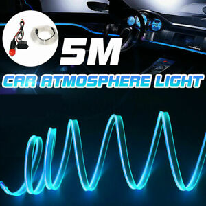 Car 5M Ice Blue LED Light Strip 12V Interior Decorative Trim Lamp for Toyota