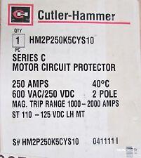 CUTLER HAMMER Motor Circuit Protector w/ 110-125 VDC Shunt HM2P250K5C YS10