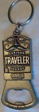 Samuel Adams Curious Traveler - Pewter Key Chain Bottle Opener - Mustache Theme