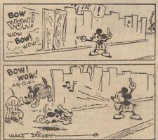 Mickey Mouse Daily Strip - Feb 20, 1931 - VERY RARE Early Floyd Gottfredson art