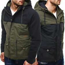 Hip Length Cotton Parkas for Men