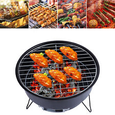 Stainless Steel Charcoal Barbecue Camping Grill 10.2 inch Picnic Stove BBQ Tool