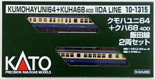 Kato 10-1315 KUMOHAYUNI 64 + KUHA68-400 Iida Line 2 Cars Set (N scale)