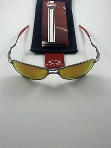 Oakley Crosshair 1.0 Ducati Silver Fire Iridium 12-690 Red Icons Ear Socks Wire