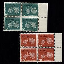 OPC 1961 Germany 75 yrs Motorized Traffic Set Sc#840-1 Mi#363-4 Blocks MNH
