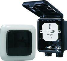 Home Easy Funk- Außenwandschalter HE834S 1000W mit Außen-Wandtaster IP44 Outdoor