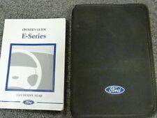 2001 Ford E150 E250 E350 E450 Van Owner Owner's Manual User Guide XL XLT