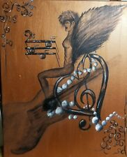 Angel of Music, surrealism,  original,  acrylic,  fantasy, signed