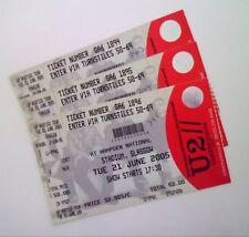 U2 TICKETS - Unused Ticket Stub(s) Hampden Park Glasgow 21/06/05