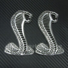 2x 3D Cobra Snake Emblem Badge Sticker Decal for Ford Mustang Shelby GT