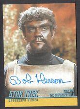 STAR TREK TOS 40th ANNIVERSARY SERIES 2 Autograph Card #A146 BOB HERRON