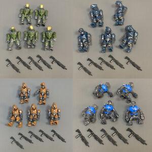 Lot 20 Mega Bloks Construx Halo UNSC SPARTAN MASTER CHIEF Figures toys & Gun
