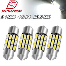 4x Super White 30mm 31mm 4014 Festoon LED Dome Map Interior Lights DE3175 3022