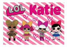 Personalised LOL DOLLS Kids A5 Jigsaw Puzzle - Great Gift -